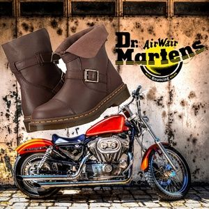 Dr. Martens Women's Kristy Slouch Motorcycle Boots